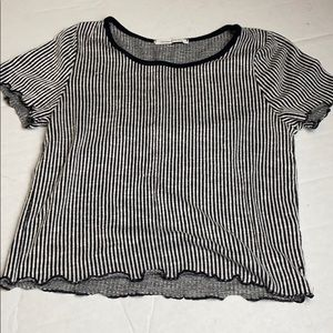 Caution to the Wind Short Sleeve Striped T XSmall